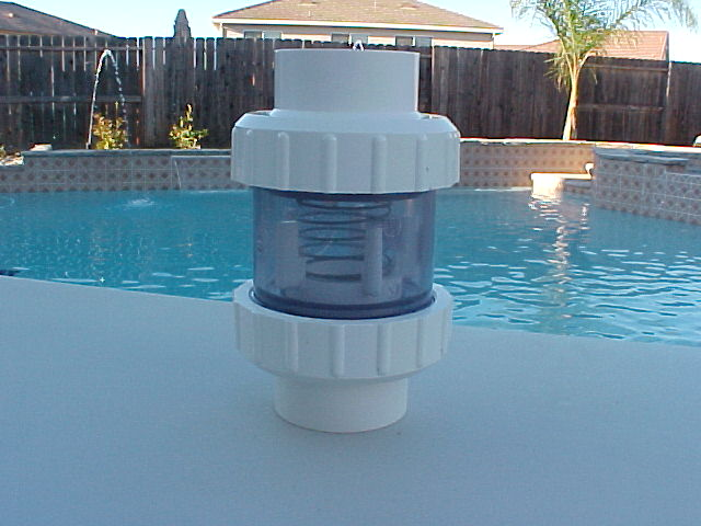 """2"""" Clear Check Valve W/Unions & 1/4 - 1/2 - 2 LB Springs ..."""