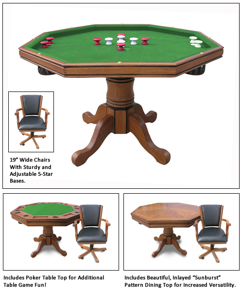 Kingston In Poker Table With Chairs - Carmelli pool table