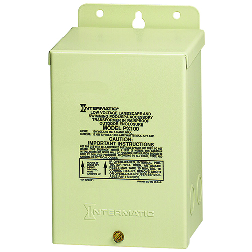 Intermatic Transformer 120V To 12V 100W With Automatic Circuit Breaker