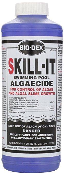 Bio-Dex Fast Acting Pool Algaecide Skill-It - 1 Quart