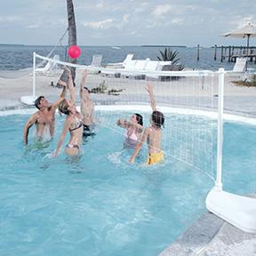 Dunnrite Aquavolly Swimming Pool Volleyball Set