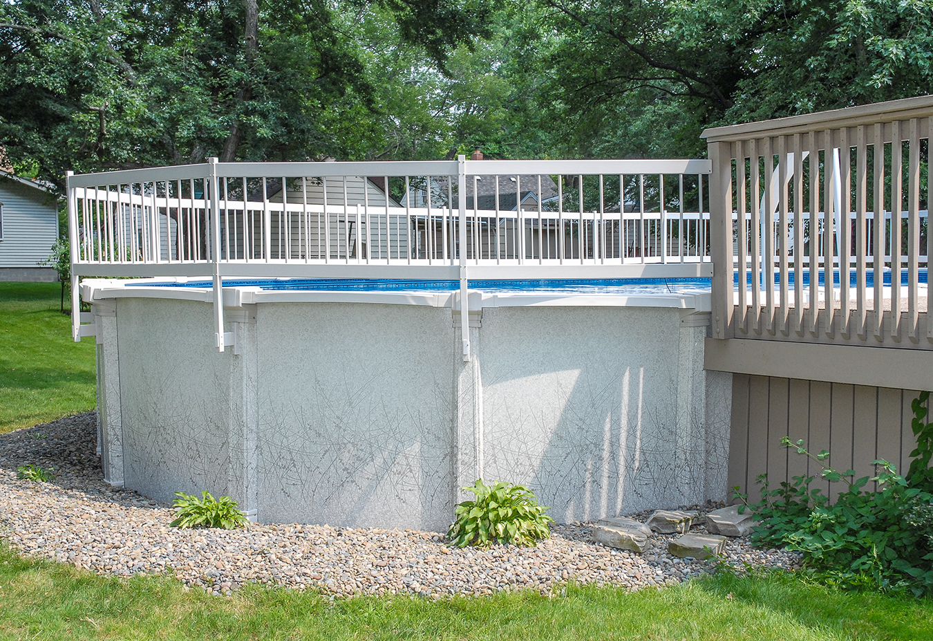 Gli Above Ground Pool Resin Fence Kit Base Kit 170