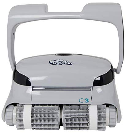 Dolphin C3 Commercial Robotic Pool Cleaner with Fine and Ultra-Fine Top Load Cartridge Filters and Caddy