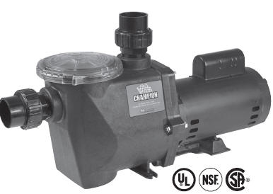 Waterway Champion Pool Pumps