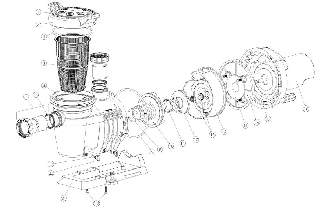 Polaris 380 Parts furthermore Pentair Superflo Pump Diagram also Hayward Filter S160T additionally Skimmer Muskin likewise Hayward Micro Clear De Filter Parts. on hayward pool filter parts diagram