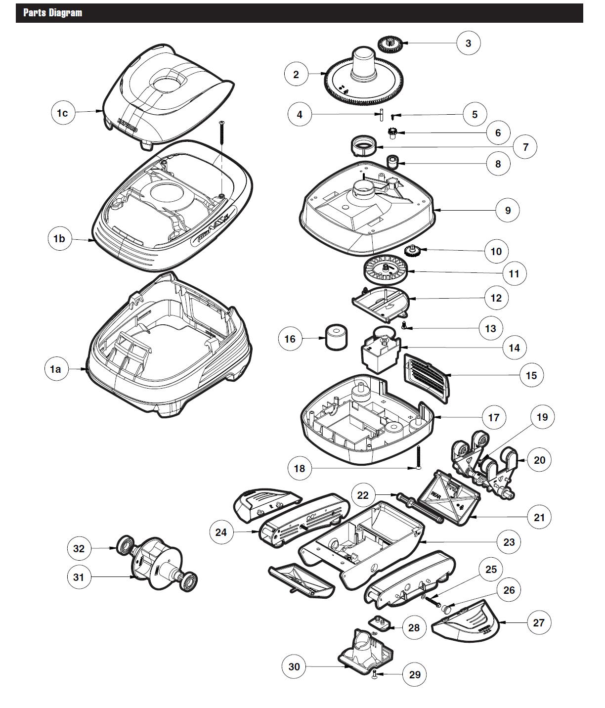 Hayward Pool Vac Parts Diagram