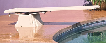 interfab techni-spring diving stand for inground pools