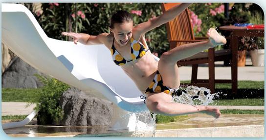 interfab zoomerang pool slide