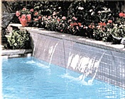 jandy sheer descent waterfalls for pool and spa