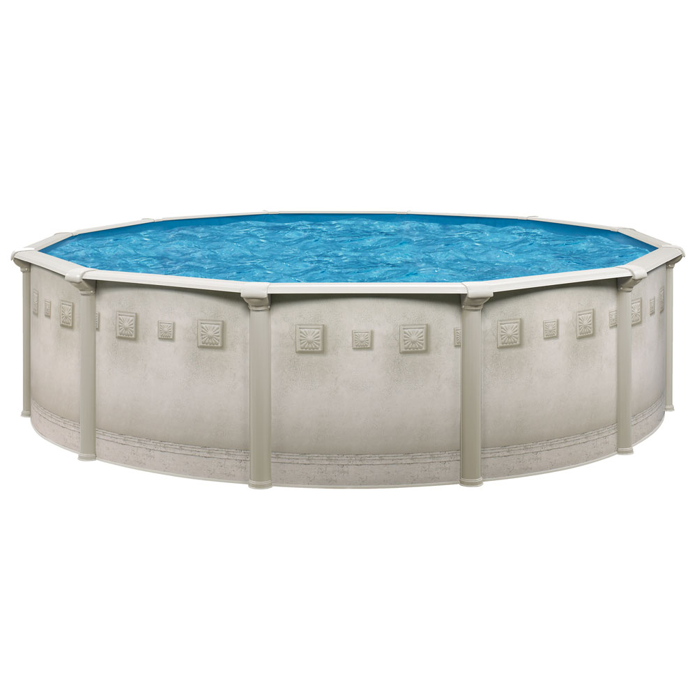 Ocean mist deluxe 24 39 round above ground pool package for Cheap above ground pool packages