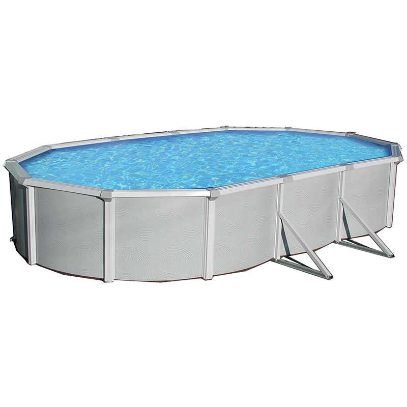 Samoan 15 X 30 Oval 52 Quot Steel Pool With 8 Quot Top Rail