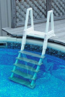 Confer Heavy Duty In-Pool Ladder W/ Barrier For Above Ground Pools - 6000B