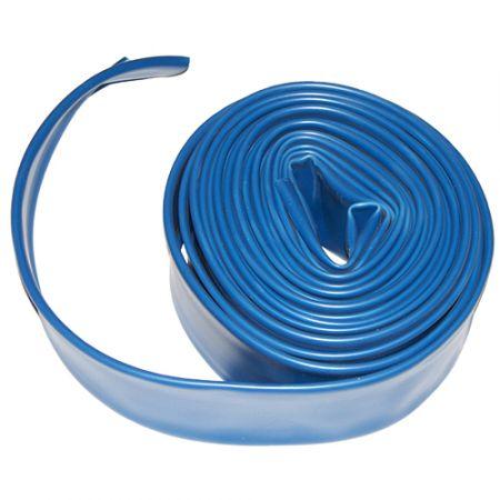 1 X 25 Flat Backwash Hose With Clamp - Blue