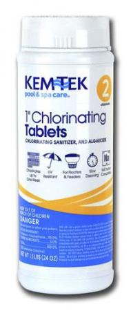 Kem-Tek 1 Chlorinating Tablets - 1.5Lb. Container
