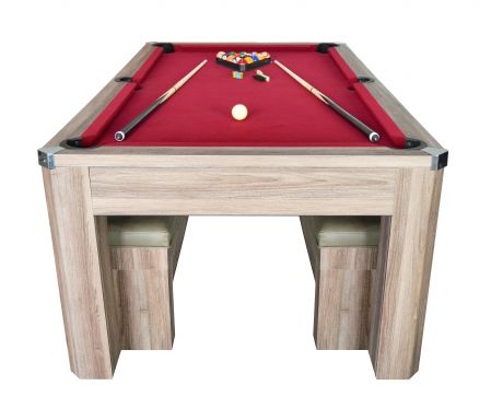 Newport 7¦ Pool Table Set With Benches