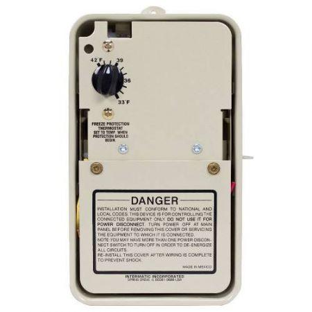 Intermatic Pf1103 120/240V Freeze Control Thermostat In Steel Raintight Box