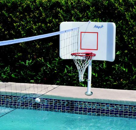 Pool Shot Spike N Splash Combination Basketball Volleyball Game Deck Mount Free Shipping