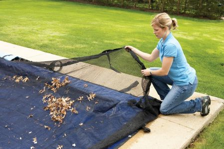 12 X 20 Rectangle Deluxe In Ground Leaf Net