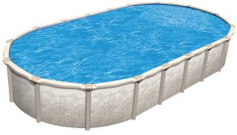 Magnus 18 X 33 Oval 54 Quot Hybrid Buttress Free Pool With 7