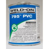 IPS Weld-On Quart 795 Flex Cement - Clear