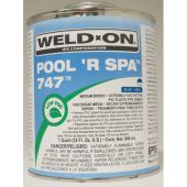IPS Weld-On Quart 747 Pool or Spa Fast Set - Royal Blue