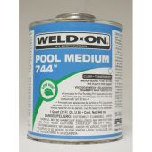 IPS Weld-On Quart 744 PVC Med Body Cement - Clear