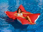 King Kai Floating Lounger - Logo Red