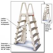 Adjustable Heavy Duty A-Frame Ladder