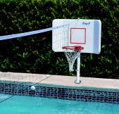 Pool Shot Spike-N-Splash Combination Basketball-Volleyball Game (Deck Mount) - Free Shipping!