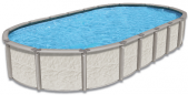 Azor 12 x 23 Oval 54 Resin Pool With 8 Top Ledge