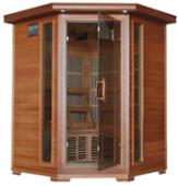 Hudson Bay 3 Person Corner Cedar Heatwave÷ Sauna
