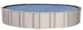 Excursion 18 Round 54 Aluminum Pool With 9 Top LedgeIncludes Boulder Swirl Uni-Bead Liner