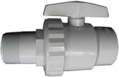 Hayward Trimline 2-Way Ball Valve, 1-1/2-Inch Skt Pipe Pvc