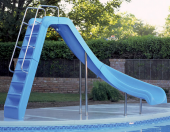 interfab blue wild ride pool slide