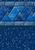 GLI 12 x 24 Rectangle Ocean Blue Inground Pool Liner  - 20 Mil