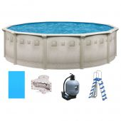 Ocean Mist Deluxe 15 Round Above Ground Pool Package