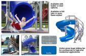 Vortex  Full Tube Slide - Blue W/ Ladder - 69520923 - Call For Shipping Quote