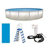 "Whispering Springs 12' Round 52"" Steel Pool Package"