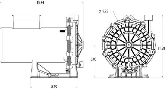 waterway booster pump size diagram